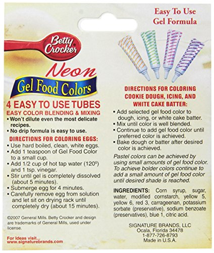 Betty Crocker Food Color Neon Gel, 2.7 oz - Import It All