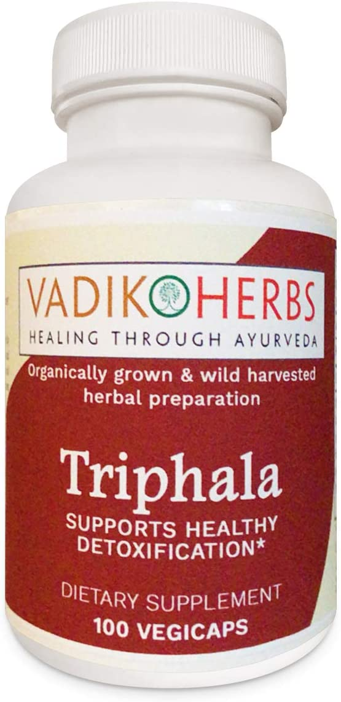 Triphala Trifala Powder Organic 100 Veg Capsule