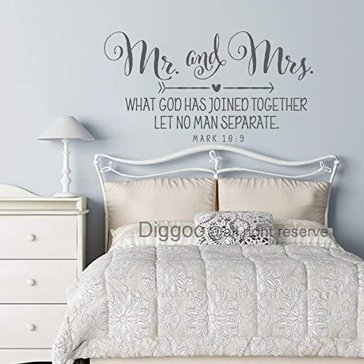 Mr And Mrs Bedroom Decor  from images-na.ssl-images-amazon.com