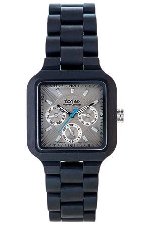TENSE//La Madera Reloj - Mens Summit Sándalo - Negro - Hombre de reloj - Madera de reloj B7305D de S: Amazon.es: Relojes