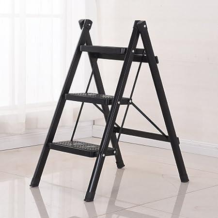 YLYDENGZ ZHDC® Taburetes de peldaños, Taburete de peldaños Plegable para el hogar Espesantes de peldaños de Tubo de Hierro para Interiores Escaleras Escalera pequeña Taburete Perezoso (Color : #6): Amazon.es: Hogar