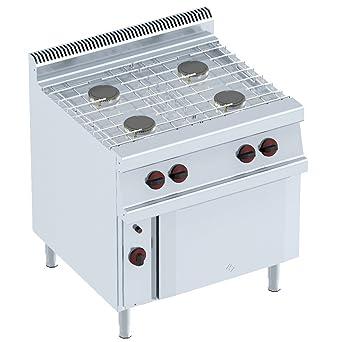 Macfrin 35012 Cocina a Gas de 4 Fuegos y Horno 23 Kw: Amazon.es ...