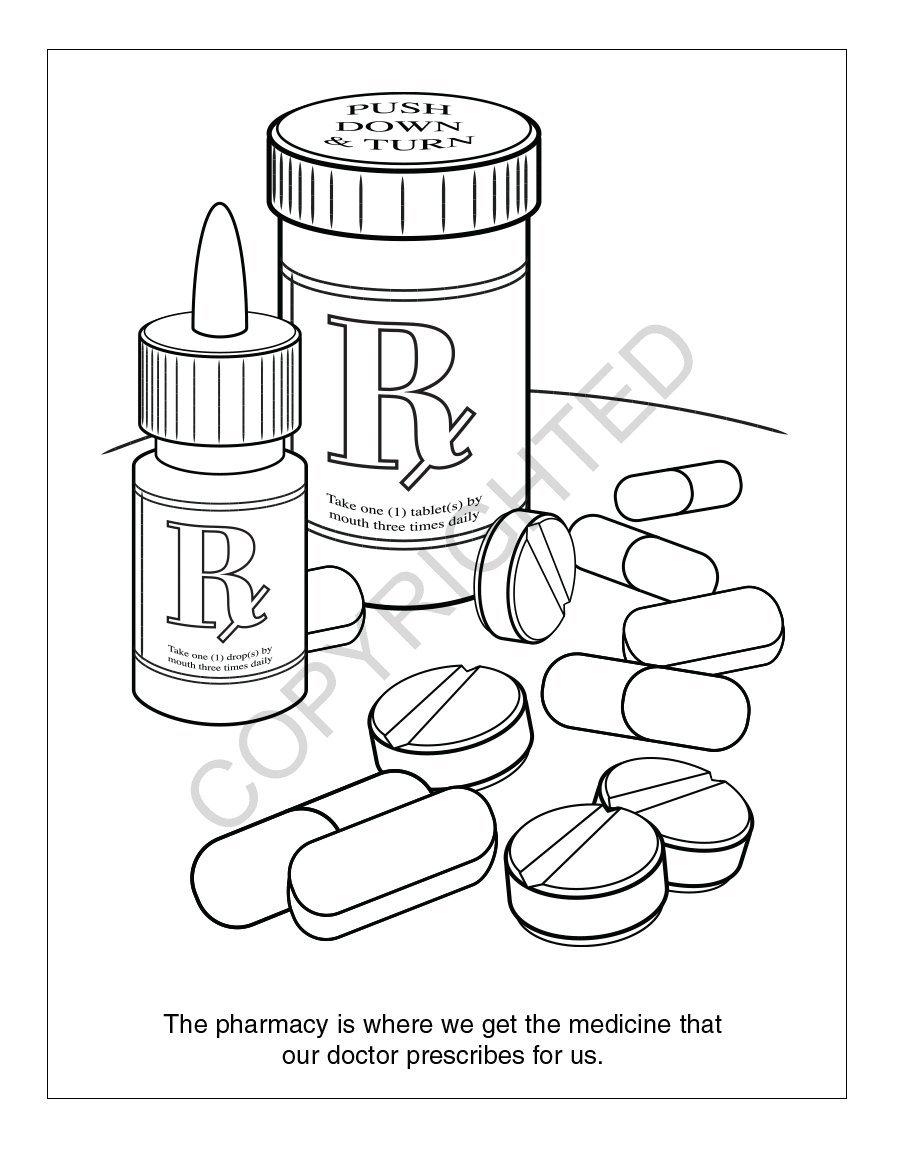 A Trip to The Pharmacy Kid's Coloring & Activity Books in Bulk (Quantity of 250) - Customize with Your Information - Pharmacy Promotional Item by Safety Magnets (Image #6)