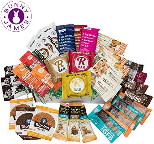 Healthy Snack Bars Sampler Box: Premium Mix Of Natural Organic Non-gmo High Protein Bars, Breakfast Bars, Energy Bars, Chia Bars, On The Go Snack Bars Variety Pack (40 Bars)