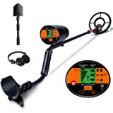 AMYSPORTS Metal Detector LCD Display Metal Detectors Waterproof Search Coil with Pinpoint Easy to Operate by