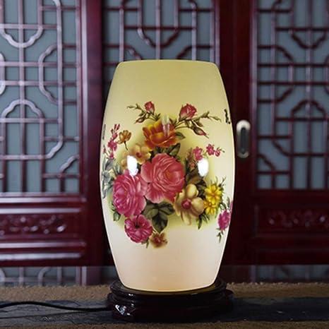 Lámpara de mesita de noche de cerámica retro Lámparas de ...