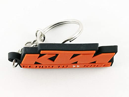 KTM Keychain Ready to Race Logo Rubber New
