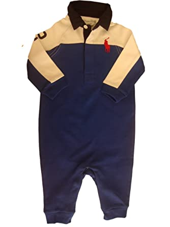 Ralph Lauren Polo Big Pony Baby Boys Romper one piece 6mths