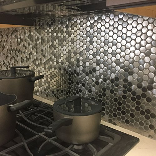 Stainless Steel Backsplash Tiles - 8