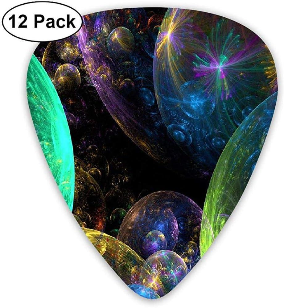 Paquete de 12 Elecciones de guitarra eléctrica clásica de moda Plectrums Globos Instrumento de luz colorido Guitarrista bajo estándar