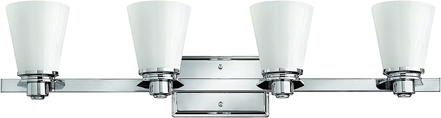 Hinkley 5554CM Transitional Four Light Bath from Avon collection in Chrome, Pol. Nckl.finish,