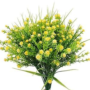 5Pcs Artificial Baby's Breath Floral Decor Bouquet for Home Indoor Outdoor Decor Gardening Wedding Garden Multi Color 100