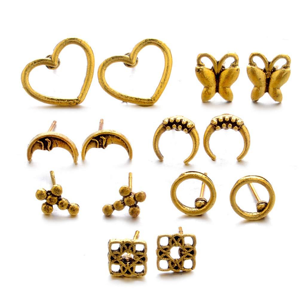Myhouse 5 Pieces/Set of Bohemian Shell Bracelet Ethnic Style Bracelet Pearl Shell Bracelet Gift Set,Gold