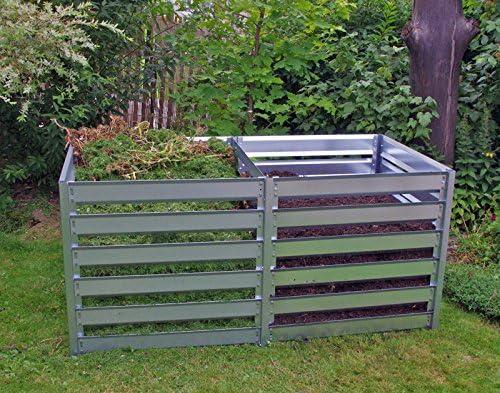 myown Green compostador doble caja de chapa de acero Metal ...