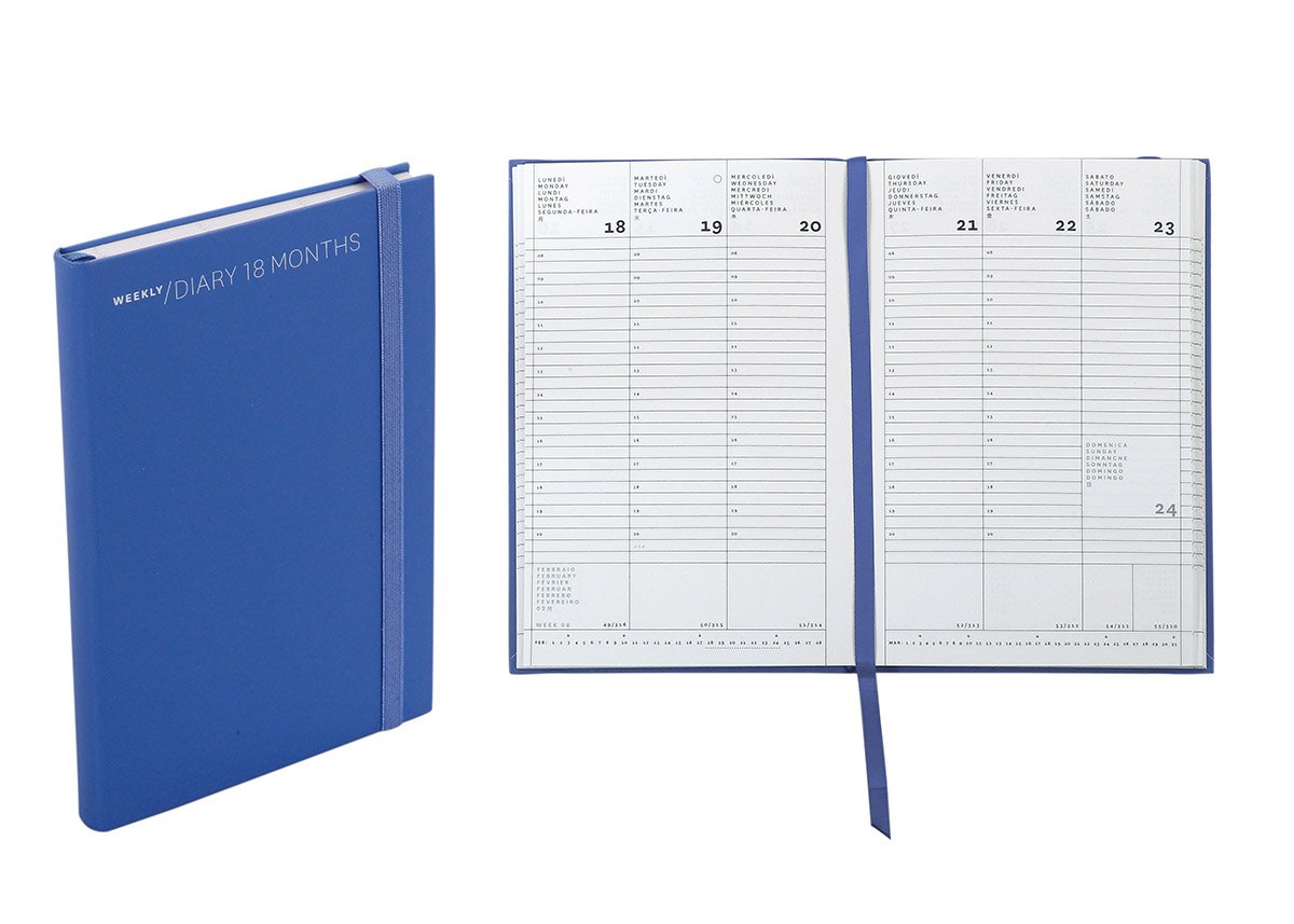 Nava Agenda settimanale 18 mesi cm 11 X 165 blu
