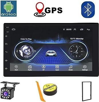 Android Radio 2 Din Coche Bluetooth GPS Para Coche 7 Pulgadas HD Pantalla Táctil WiFi/Bluetooth Autoradio 1G/16G Multimedia Car Stereo Cámara De Visión Trasera: Amazon.es: Electrónica
