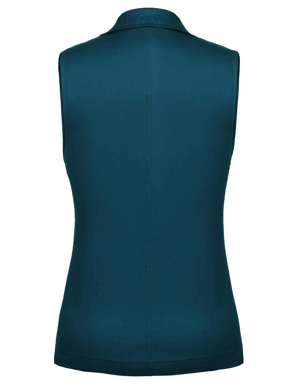 Dealwell Womens Lightweight Vest Casual Zipper Military Cotton Jacket Plus Size