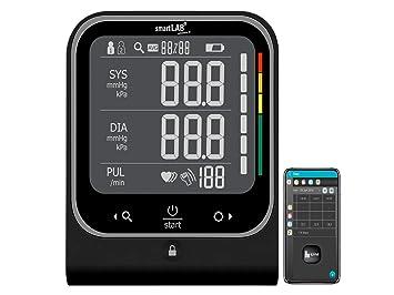 smartLAB Pressure W brazo Tensiómetro Negro con Bluetooth: Amazon ...