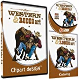 Cowboy-Rodeo-Western-Horse Clipart-Vinyl Cutter Plotter Clip Art Sign Making Images-Design Vector Art Graphics CD-ROM
