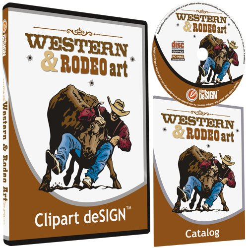 Western Cowboy Clipart (Cowboy-Rodeo-Western-Horse Clipart-Vinyl Cutter Plotter Clip Art Sign Making Images-Design Vector Art Graphics CD-ROM)
