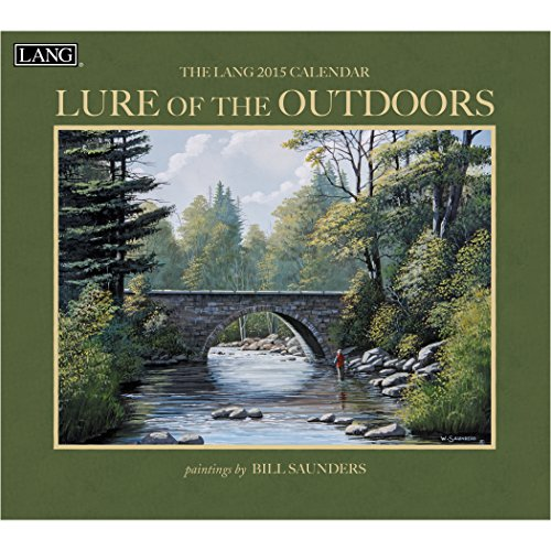 Lang January to December, 13.375 x 24 Inches, Perfect Timing Lure of the Outdoors 2015 Wall Calendar By Bill Saunders (1001750)
