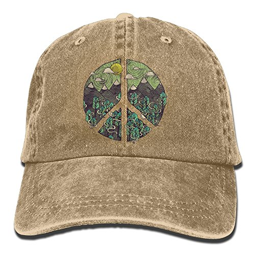 - Nature Peace Sign Vintage Jeans Baseball Cap For Men And Women