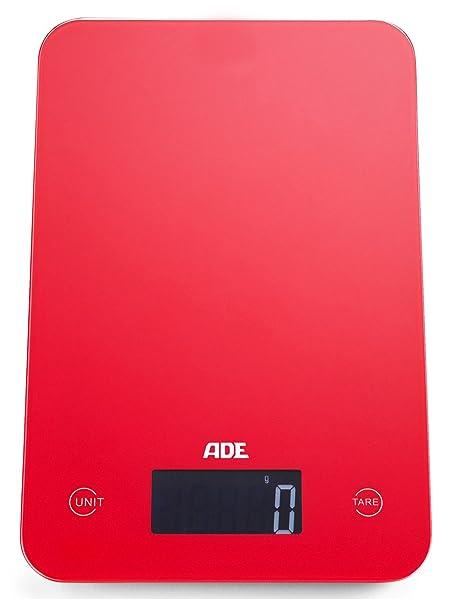 ADE Báscula de cocina digital KE927 Slim. 12mm de altura. Display LCD. Pesa