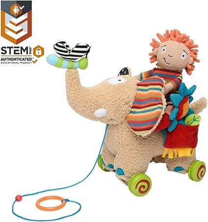 Elephant Plush Toy Baby Infant Toddler Activity Sensory Learning Interactive New