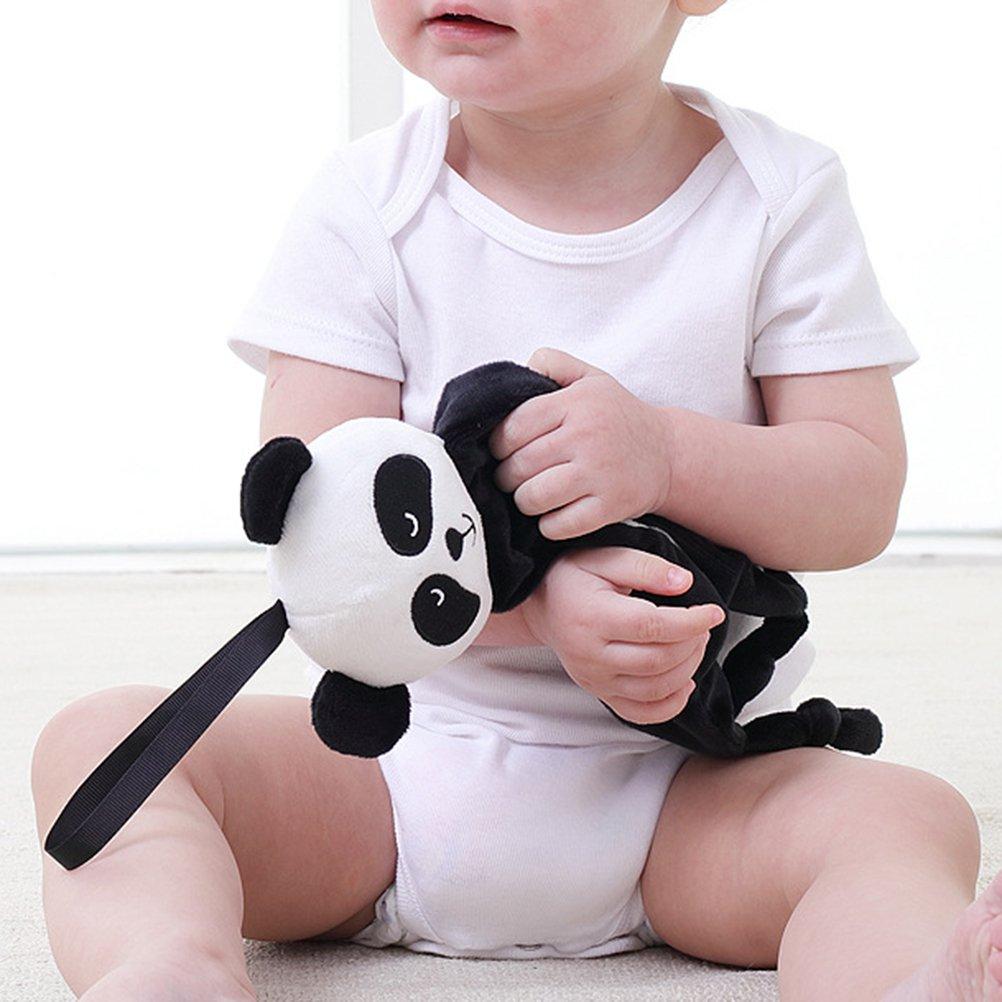 BESTOYARD Dou Dou Bebe Peluche Manta Bebe Panda Blanco Negro