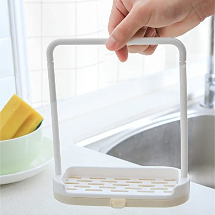 Urijk Kitchen Sink Organizer Sponge Holder, Sink Caddy Brush Soap  Dishwashing Liquid Drainer Rack Kitchen Accessories