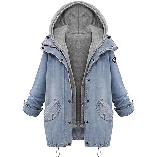 Internet Chaqueta con capucha de cuello alto y cuello alto de invierno para mujer