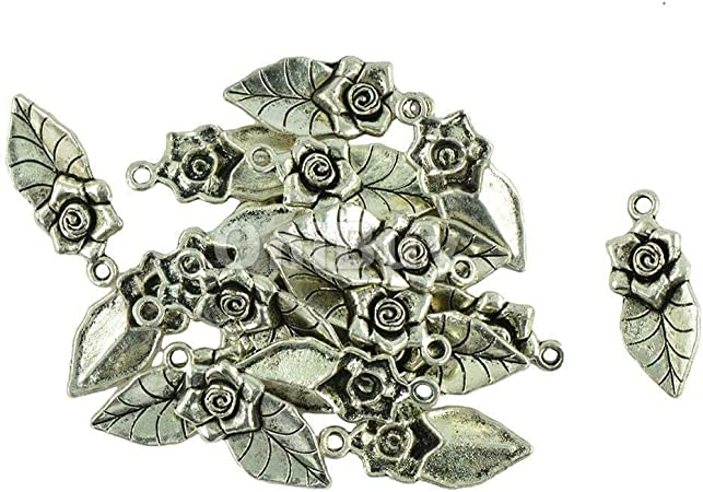 Flower Necklace Charms Jewelry Tibet silver Pendant Chain Necklace