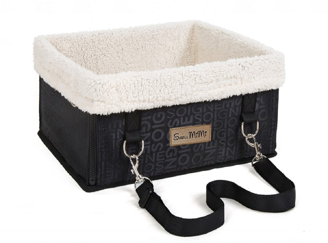 SHELLMIMI Pet Booster Car Seat for Dogs Under 12lbs-Just for Small Dog (Black), with Harness