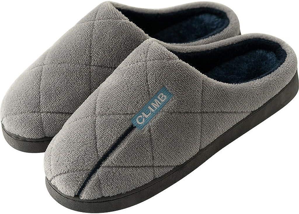 KERULA Inverno Pantofole da Casa Bambini Uomo Donna Peluche Ciabatte da Confortevole Caldo Scarpe di Cotone Invernale Antiscivolo Grigio Scuro