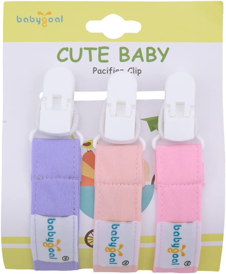 Babygoal Pacifier Clips for Boys 6 Pack Pacifier Holder Fits Most Pacifier Styles /&Teething Toys and Baby Shower Gift 6PS17-CA