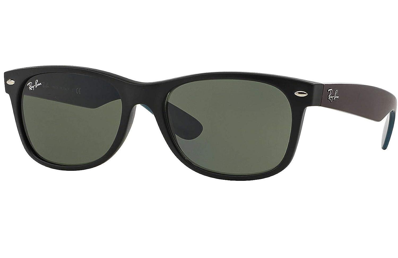 404ed5ba9b1 Amazon.com  Ray Ban RB2132 6182 55 Matte Black New Wayfarer Sunglasses  Bundle-2 Items  Clothing
