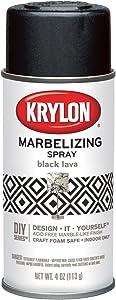 Krylon I00601 Marbelizing Spray Decorative Finishes, Black Lava, 4 Ounce Krylon I00601 Marbelizing Spray Decorative Finishes, Black Lava, 4 Ounce