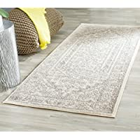 Safavieh Adirondack Collection ADR108B Ivory and Silver Oriental Vintage Medallion Runner (2'6' x 6')