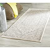 "Safavieh Adirondack Collection ADR108B Ivory and Silver Oriental Vintage Runner (2'6"" x 6')"