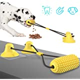 WORKER Dog Chew Toy for Aggressive Chewers, Corn Shape Interactive Dog Puzzle Toys, Rope Dog Toys with Double Suction…
