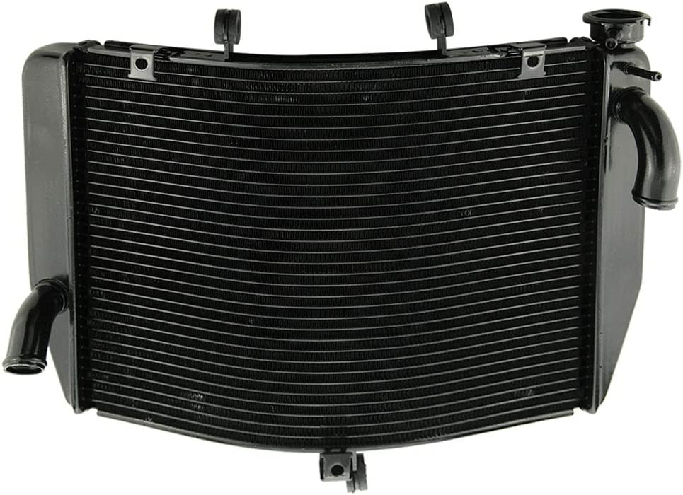 GZYF Aluminum Engine Cooler Radiator Compatible with Kawasaki Ninja ZX6R 2007-2008