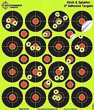Splatterburst Targets - 2 inch Stick & Splatter Reactive Self Adhesive Shooting Targets - Gun - Rifle - Pi