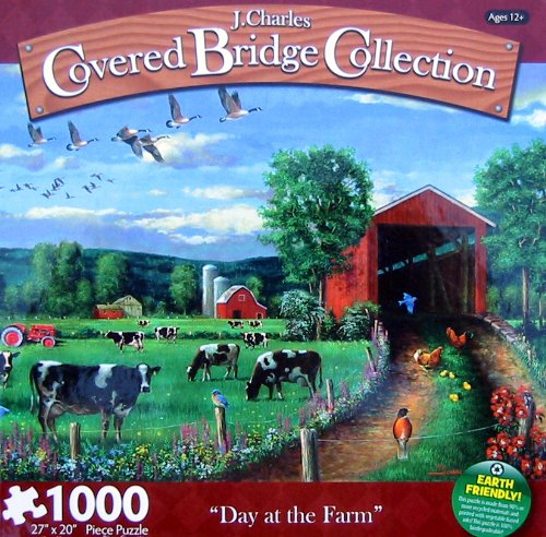 J. Charles Covered Bridge Collection 1000pc. Puzzle-Day at the Farm