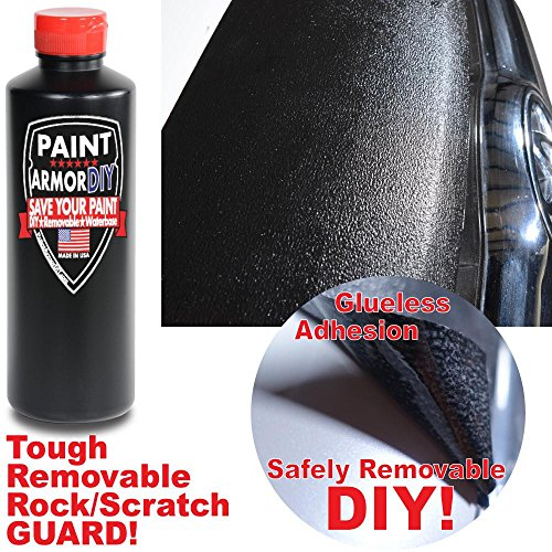 Roll / Brush On - Paint Protection Film - REMOVABLE - Thicker than a Wrap - Clear Bra - Car Wrap - Paint Chip Protection - Rock Scratch Protection - PaintArmorDIY PINT BLACK by PaintArmorDIY