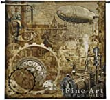 Fine Art Tapestries FineArtTapestries 6072-WH Steampunk Wall Tapestry