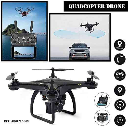LLDHWX gw83 Quadcopter GPS de dron Real Mando a Distancia en ...