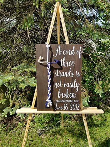 Cord Of Three Strands Wedding (CELYCASY Cord of Three Strands Sign, Wedding Ceremony)
