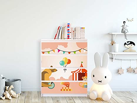 Creatisto Möbelaufkleber Für Ikea Malm 2 Schubladen Kinder