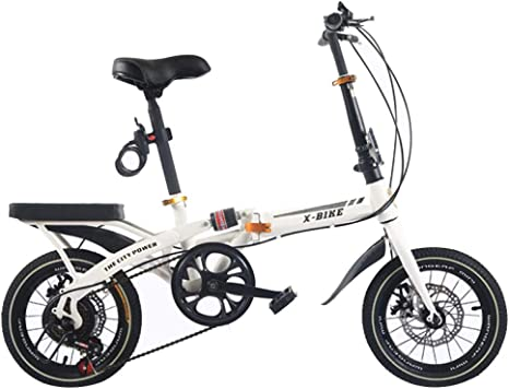AOHMG Bicicleta Plegable Peso Ligero Bici Plegable, 6 ...