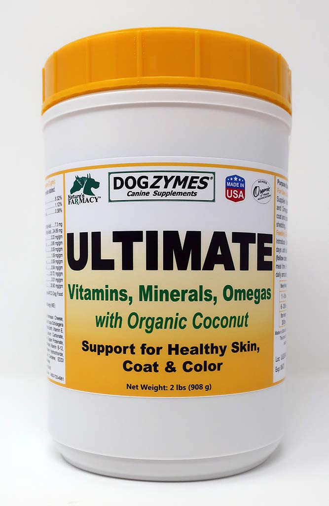 Dogzymes Ultimate Skin and Coat with Algal Oil and Organic Coconut, 2-Pound by Nature's Farmacy Inc